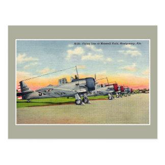 ヴィンテージの飛行機のマックスウェル分野のモントゴメリーのAL ポストカード