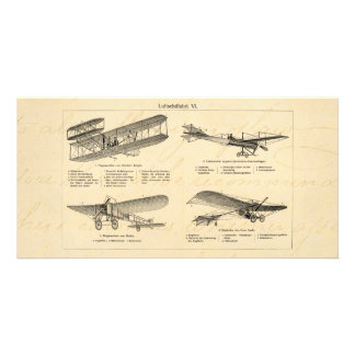 ヴィンテージの飛行機のレトロの古い複葉機のアンティークの飛行機 カード