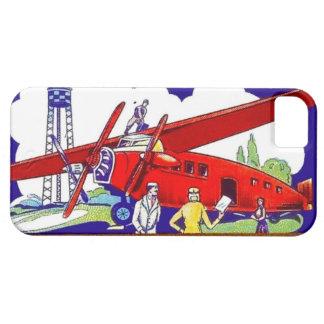 ヴィンテージの飛行機の飛行機のパイロット飛行旅行の休暇 iPhone 5 ベアリーゼアケース