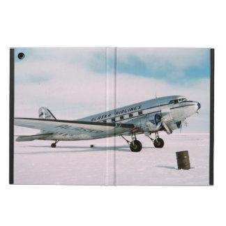 ヴィンテージの飛行機の飛行機のwanderlustの写真 iPad airケース