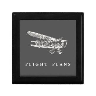 ヴィンテージの飛行機、フライトプラン ギフトボックス