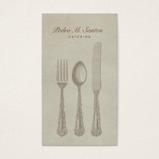 ヴィンテージの食事用器具類の平野のシンプルなケータリングのプロフェッショナル 名刺