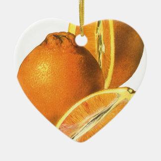 ヴィンテージの食糧は、オーガニックで新しく健康なオレンジ実を結びます セラミックオーナメント