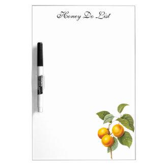 ヴィンテージの食糧フルーツ、Redoute著杏子のモモ ホワイトボード