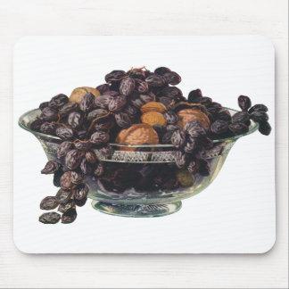 ヴィンテージの食糧、クルミおよびアーモンド、フルーツおよびナット マウスパッド
