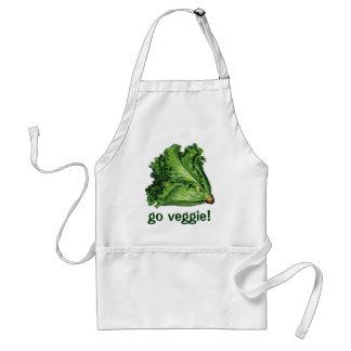 ヴィンテージの食糧、緑の葉レタスの野菜 スタンダードエプロン