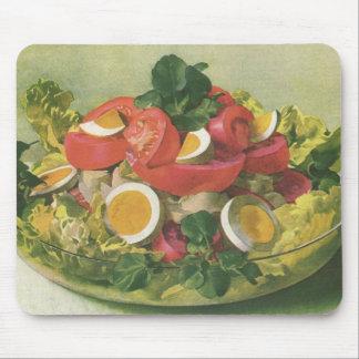 ヴィンテージの食糧、Mesclunオーガニックな混合された緑のサラダ マウスパッド