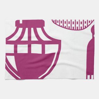 ヴィンテージの香水のスプレーヤー キッチンタオル