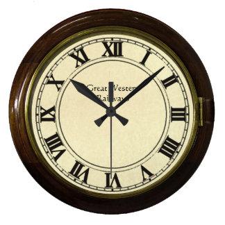 ヴィンテージの駅の一見の時計 ラージ壁時計