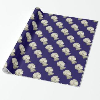 ヴィンテージの骨相学の頭部のギフト用包装紙 ラッピングペーパー