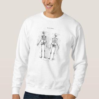 ヴィンテージの骨組人間の解剖学の骨はスカルの骨を抜きます スウェットシャツ