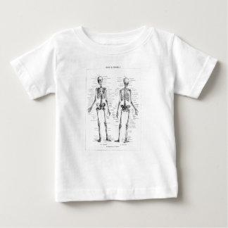 ヴィンテージの骨組人間の解剖学の骨はスカルの骨を抜きます ベビーTシャツ