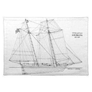 ヴィンテージの高い船のルイジアナのランチョンマット ランチョンマット