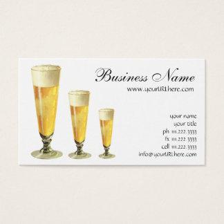 ヴィンテージの高く霜の降りたな生ビール、アルコール飲料 名刺