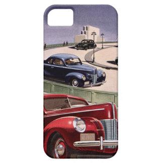 ヴィンテージの高速道路のクラシックなセダンの自動車運転 iPhone SE/5/5s ケース