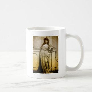 ヴィンテージの魅力のポートレート コーヒーマグカップ
