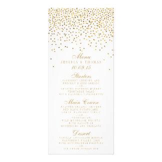 ヴィンテージの魅力的な金ゴールドの紙吹雪の結婚式のコレクション ラックカード