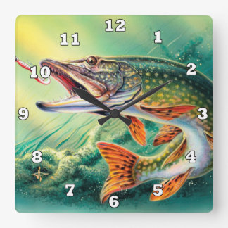 ヴィンテージの魚の恋人の総本店の装飾の時計 スクエア壁時計