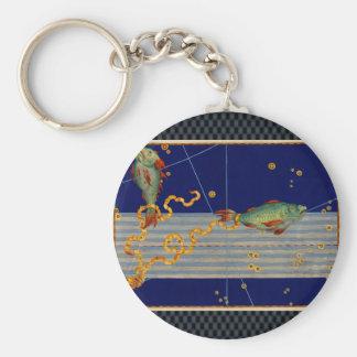 ヴィンテージの魚類の星図 キーホルダー