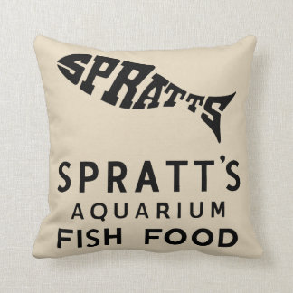 ヴィンテージの魚食糧広告 クッション