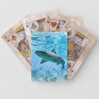 ヴィンテージの鮫カード バイスクルトランプ