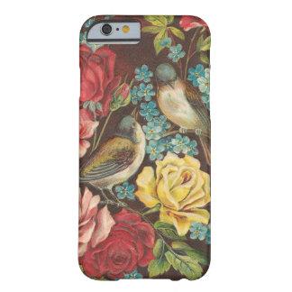 ヴィンテージの鳥および花 iPhone 6 ベアリーゼアケース