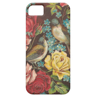 ヴィンテージの鳥および花 iPhone SE/5/5s ケース
