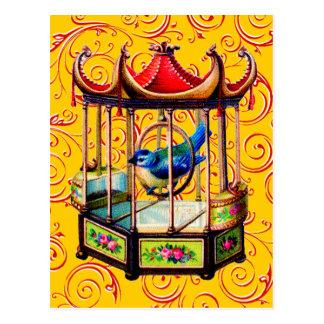 ヴィンテージの鳥かご ポストカード