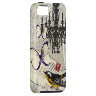 ヴィンテージの鳥のシャンデリアの上品パリ iPhone SE/5/5s ケース