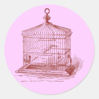ヴィンテージの鳥籠 ラウンドシール