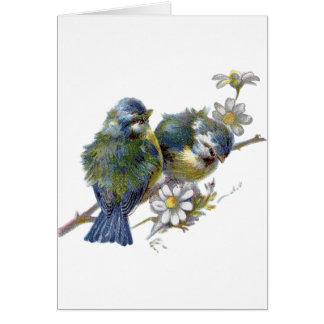ヴィンテージの鳥、ドイツの誕生日 カード