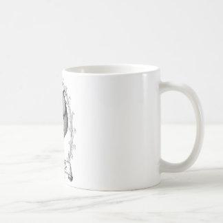 ヴィンテージの鶏のデザインのタイポグラフィ コーヒーマグカップ