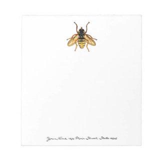 ヴィンテージの黄色および黒い蜂 ノートパッド