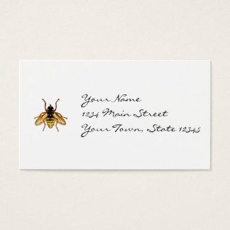 ヴィンテージの黄色および黒い蜂 名刺