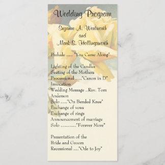 Vintage Yellow Rose Wedding Programs