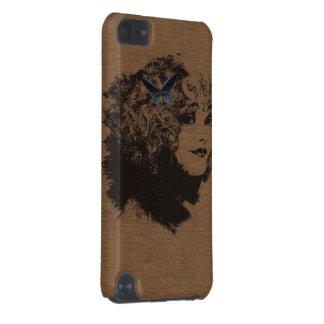 ヴィンテージの黒い輪郭の女性 iPod TOUCH 5G ケース