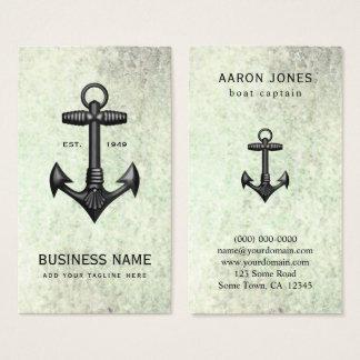 ヴィンテージの黒い鋳鉄のいかりの航海のな船遊び 名刺