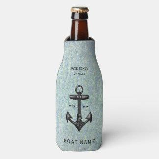 ヴィンテージの黒い鋳鉄のいかりの船員のボートの大尉 ボトルクーラー