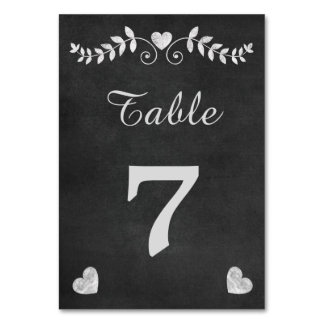 ヴィンテージの黒板のハートの結婚 カード