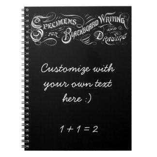 ヴィンテージの黒板のレタリング-ノート ノートブック