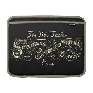 ヴィンテージの黒板の執筆スケッチ-袖 MacBook スリーブ