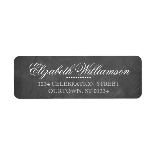 ヴィンテージの黒板の宛名ラベル 返信用宛名ラベル