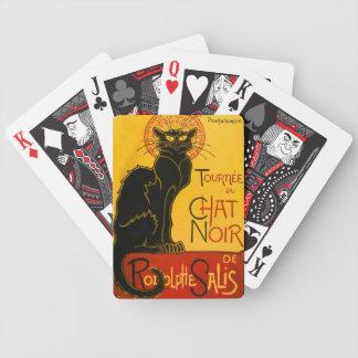 ヴィンテージの黒猫のアールヌーボーの雑談Noir Steinlen バイスクルトランプ