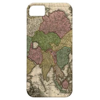 ヴィンテージの1700年の世界地図のiPhone 5カバー iPhone SE/5/5s ケース