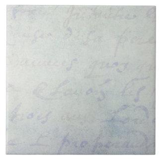 ヴィンテージの18世紀のフランス語は旧式な青書に文字を入れます タイル