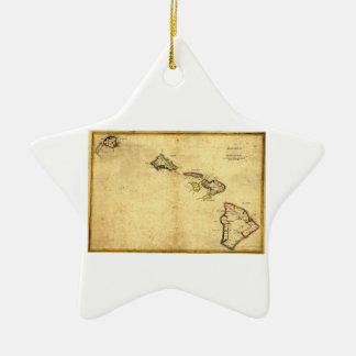 ヴィンテージの1837年ハワイの地図-ハワイ諸島の セラミックオーナメント