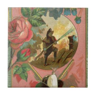 ヴィンテージの1880年代の消防士の消防士カバー タイル