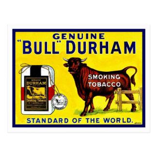 ヴィンテージの1890年代のBullダラムのタバコの広告 ポストカード