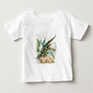 ヴィンテージの19世紀のわにワニのイラストレーション ベビーTシャツ