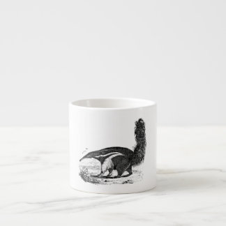 ヴィンテージの19世紀のアリクイのレトロの蟻の食べる人のテンプレート エスプレッソカップ